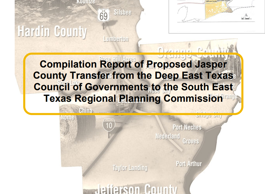 Compilation Report of Proposed Jasper County Transfer